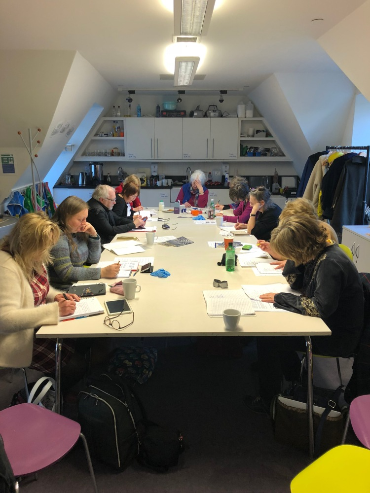 writers at StAnza writing workshop